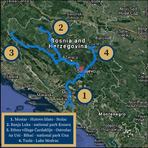 Tour de Bosna map aslkhdg